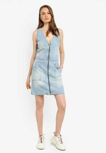 Inspirasi Dress Wanita Terbaru - Denim Zipthrough Dress