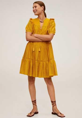 Inspirasi Dress Wanita Terbaru - Openwork Cotton Dress