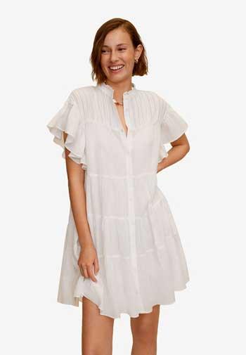 Inspirasi Dress Wanita Terbaru - Ruffled Sleeve Dress