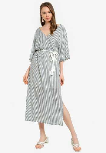 Inspirasi Dress Wanita Terbaru - Stripe Midi Dress