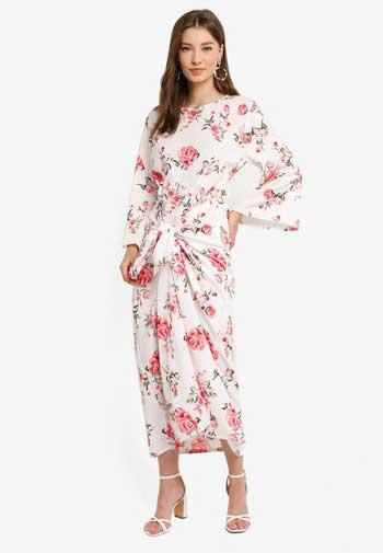 Inspirasi Dress Wanita Terbaru - Twist-front Midi Dress