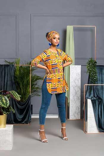 Inspirasi Motif Pakaian Casual Wanita - Motif african clash