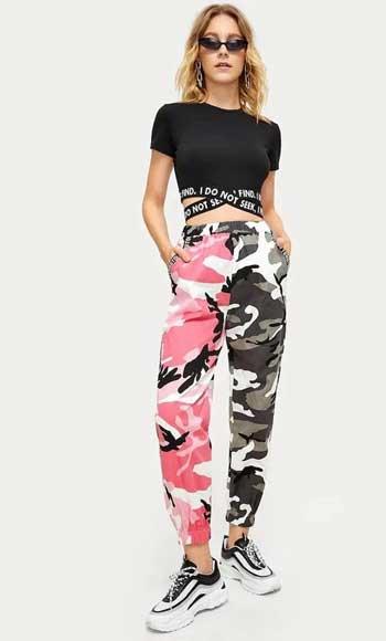 Inspirasi Motif Pakaian Casual Wanita - Motif camouflage