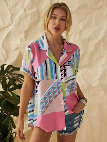 Inspirasi Motif Pakaian Casual Wanita - Motif geometris