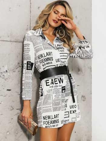 Inspirasi Motif Pakaian Casual Wanita - Motif koran