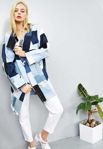 Inspirasi Motif Pakaian Casual Wanita - Motif patchwork