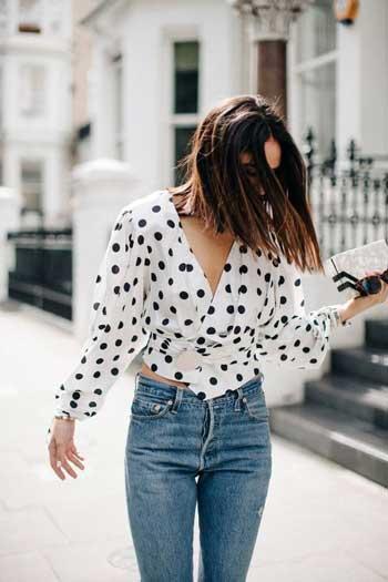 Inspirasi Motif Pakaian Casual Wanita - Motif polka dot