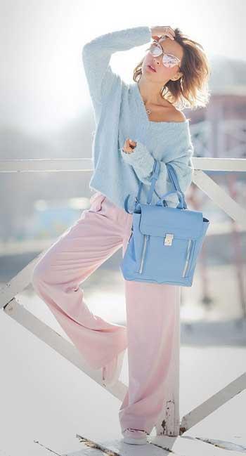 Inspirasi Warna Outfit Sesuai Dengan Warna Kulit Putih - Pastel Color