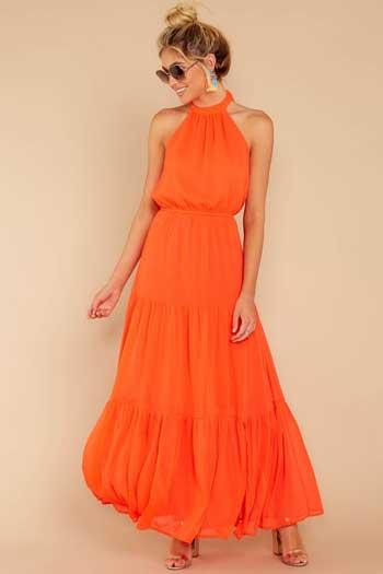 Inspirasi Warna Outfit Sesuai Dengan Warna Kulit Kuning Langsat - Oranye atau Jingga