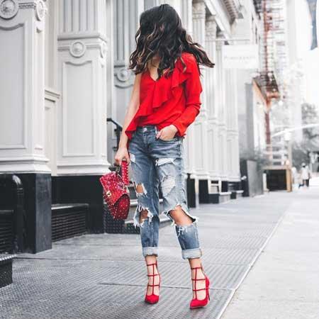 Inspirasi Warna Outfit Sesuai Dengan Warna Kulit Kuning Langsat - merah