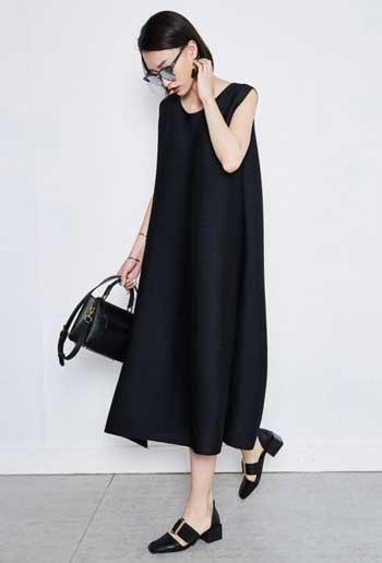 Inspirasi Warna Outfit Sesuai Dengan Warna Kulit Putih - Dress Hitam