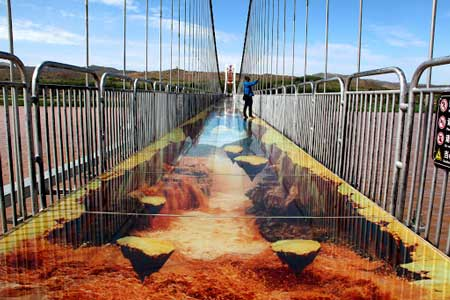 Jembatan Kaca - 3D Glass Bridge Over The Yellow River