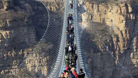 Jembatan Kaca - Hongyagu Suspension Glass Bridge