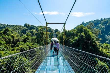 Jembatan Kaca - The First Suspension Glass Bridge