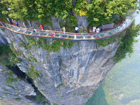 Jembatan Kaca - Tianmen Mountain Glass Skywalk