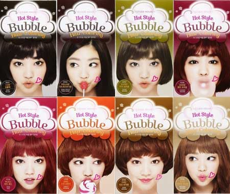 Merk Cat Rambut - Etude Hot Style Bubble Hair Coloring