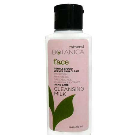 Rekomendasi Makeup Remover Yang Bagus - Mineral Botanica Acne Care Cleansing Milk