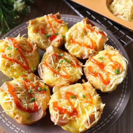 Resep Kreasi Roti Tawar - Muffin Roti Tawar
