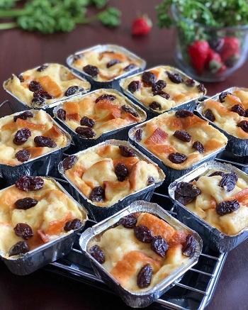 Resep Kreasi Roti Tawar - Puding Roti Tawar Keju