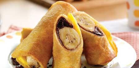 Resep Kreasi Roti Tawar - Roti Gulung Pisang Coklat