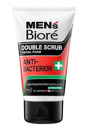 Sabun Cuci Muka Pria Terbaik - Biore Men Facial Foam Anti Bacterior