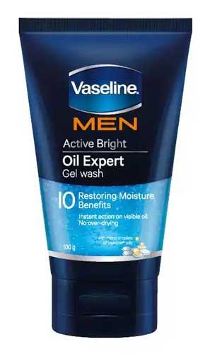 Sabun Cuci Muka Pria Terbaik - Vaseline Men Active Bright Oil Expert Gel Wash
