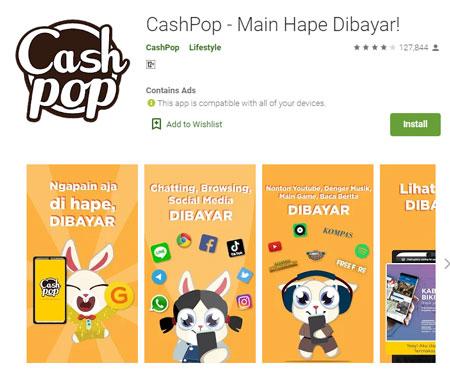 Aplikasi Penghasil Uang Terbaik dan Aman - CashPop