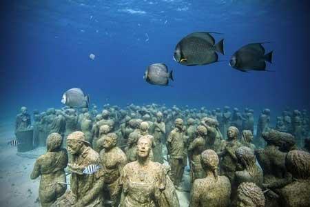 10 Destinasi Dengan Pemandangan Bawah Laut Terindah Di Dunia - Cancun Underwater Museum