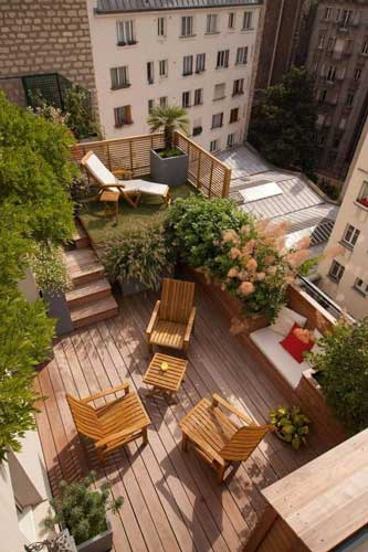 Inspirasi Desain Taman Diatap Rumah