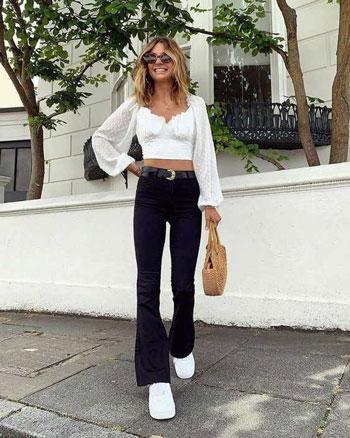 Inspirasi Outfit Hitam Putih Yang Trendi Dan Kekinian