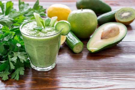 Jus Buah Yang Lezat, Sehat Dan Murah - Jus alpukat campur seledri, timun dan lemon