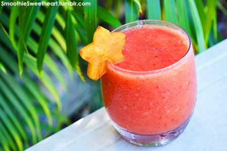 Jus Buah Yang Lezat, Sehat Dan Murah - Jus belimbing campur strawberry