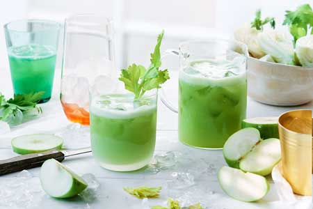 Jus Buah Yang Lezat, Sehat Dan Murah - Jus melon campur apel hijau dan susu