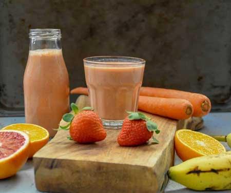 Jus Buah Yang Lezat, Sehat Dan Murah - Jus stroberi dan wortel