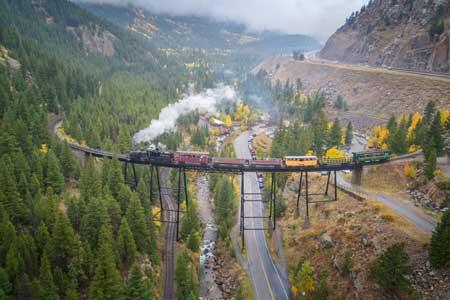 Lintasan Kereta Api Dengan Pemandangan Paling Indah Di Dunia - Georgetown Loop Railroad