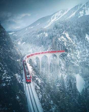 Lintasan Kereta Api Dengan Pemandangan Paling Indah Di Dunia - Glacier Express