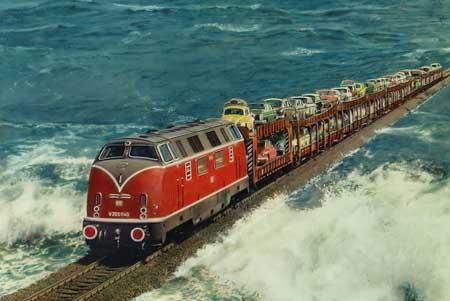Lintasan Kereta Api Dengan Pemandangan Paling Indah Di Dunia - Hindenburgdamm