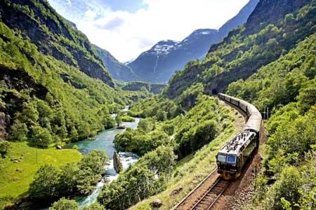 Lintasan Kereta Api Dengan Pemandangan Paling Indah Di Dunia - The Flam Railway