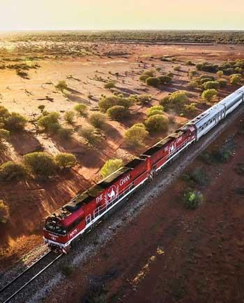 Lintasan Kereta Api Dengan Pemandangan Paling Indah Di Dunia - The Ghan