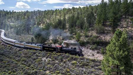 Lintasan Kereta Api Dengan Pemandangan Paling Indah Di Dunia - The Grand Canyon Railway