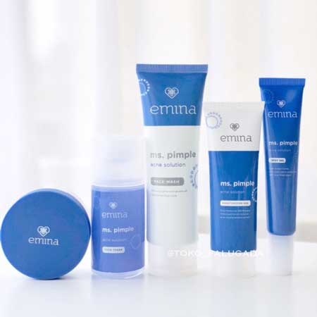 Merk Kosmetik Yang Aman Untuk Kulit Berjerawat - Emina Ms Pimple Acne Solution Series