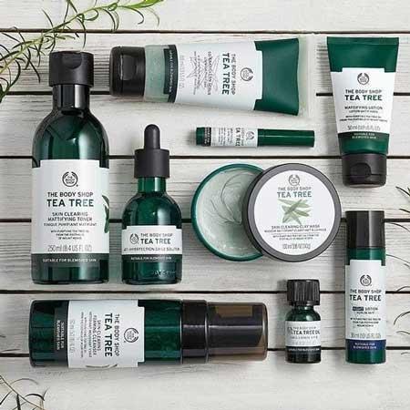 Merk Kosmetik Yang Aman Untuk Kulit Berjerawat - The Body Shop Tea Tree Series