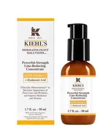 Merk Serum Vitamin C Terbaik - Kiehl's Powerful Strength Line Reducing Concentrate