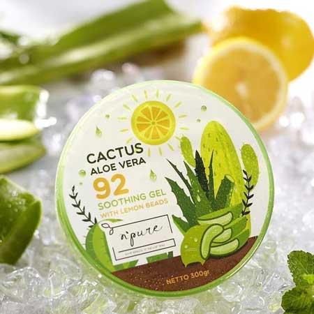 Merk Soothing Gel Terbaik Dan Bagus - N'Pure Cactus Aloe Vera Soothing Gel