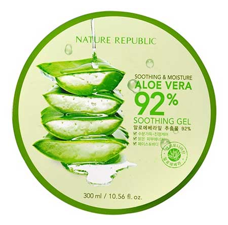 Merk Soothing Gel Terbaik Dan Bagus - Nature Republic Soothing & Moisture Aloe Vera 92% Soothing Gel