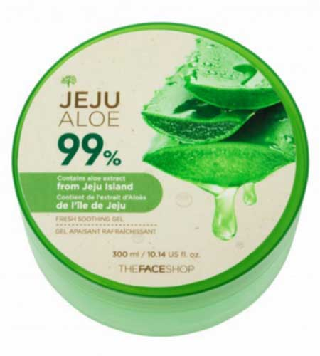 Merk Soothing Gel Terbaik Dan Bagus - The Face Shop Jeju Aloe 99% Fresh Soothing Gel