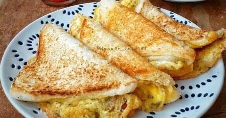 Resep Kreasi Roti Panggang Yang Mudah Dan Lezat - Roti panggang telur simple