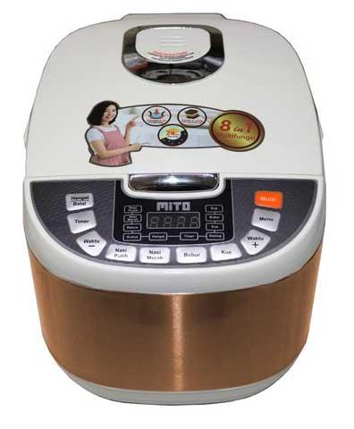 Rice Cooker Terbaik Dan Hemat Listrik - Mito Digital Rice Cooker R5+ 8 in 1 2L