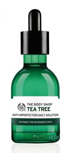 Serum Untuk Kulit Berjerawat Terbaik Dan Ampuh - The Body Shop Tea Tree Anti Imperfection Daily Solution Serum