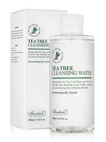 Skincare Terbaik Untuk Kulit Sensitif Dan Berjerawat - Benton Tea Tree Cleansing Water